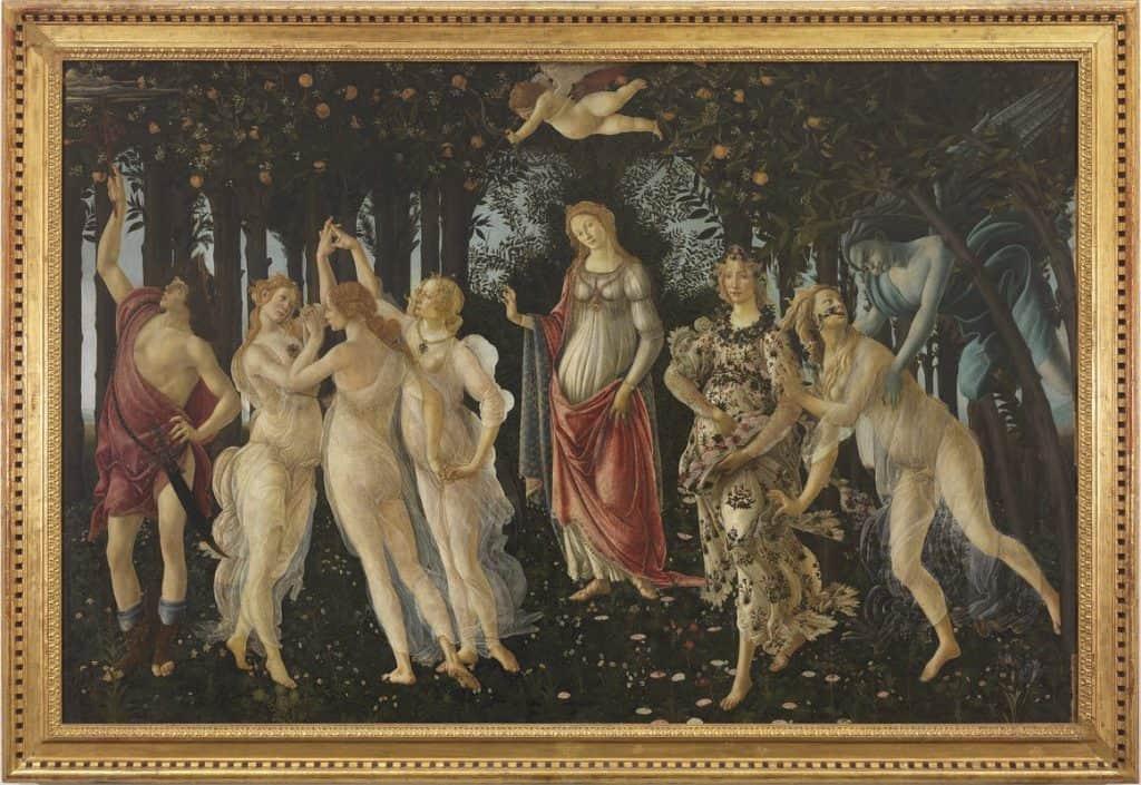 プリマヴェーラ(春),La Primavera,Spring,Sandro Botticelli,ボッティチェリ,Gli Uffizi