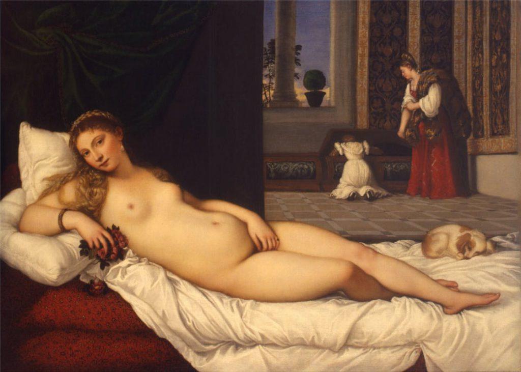 ウルビーノのヴィーナス,Venere di Urbino,ティツィアーノ,Tiziano Vecellio,Gli Uffizi
