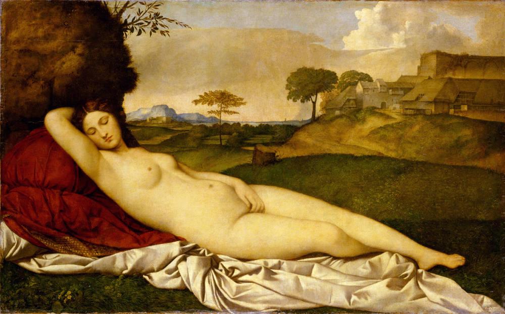 眠れるビーナス,Schlummernde Venus