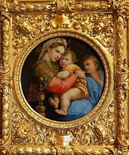 小椅子の聖母,ラファエロ,Raffaello,Madonna della Seggiola,Gli Uffizi