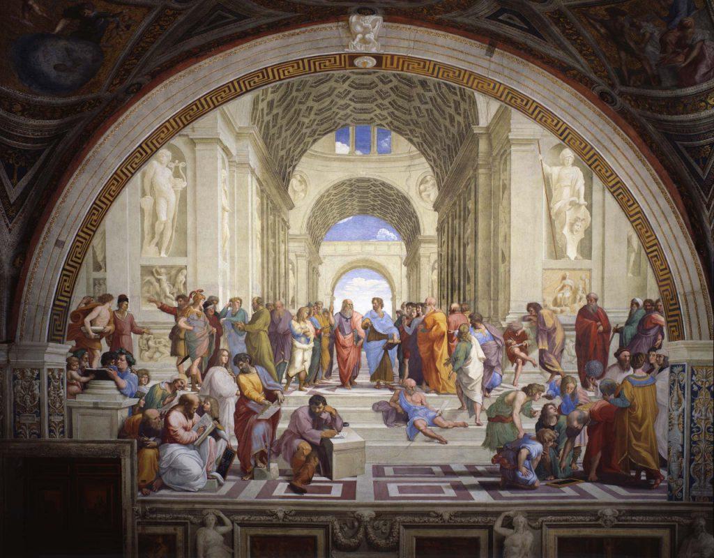 アテナイの学堂,Die Schule von Athen,ラファエロ,Stanze di Raffaello,バチカン宮殿,Vatican Palace