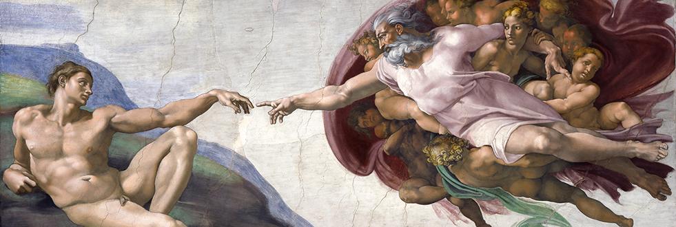 アダムの創造,Creation of Adam,システィーナ礼拝堂,Cappella Sistina,Michelangelo di Lodovico Buonarroti Simoni