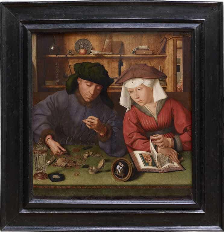 金貸しとその妻,クエンテイン・マセイス,The Moneylender and his Wife,Quentin Massys,Quinten Massijs