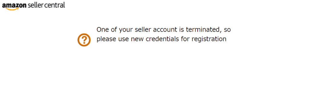 One of your seller account is terminated, so please use new credentials for registration